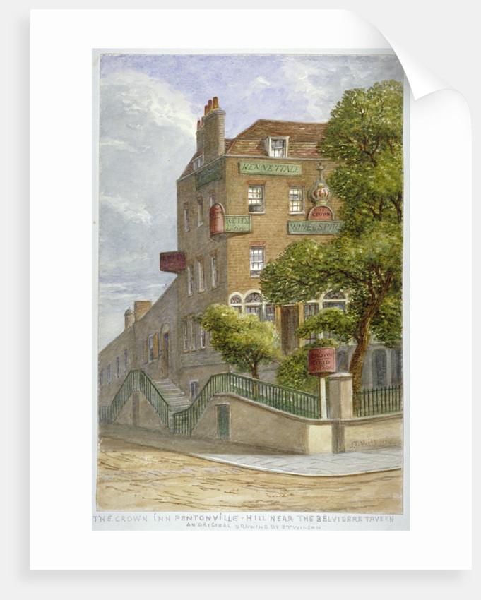 The Crown Inn, Pentonville Hill, Islington, London by JT Wilson