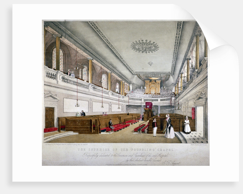 Interior view of the Foundling Chapel, Guilford Street, St Pancras, London by