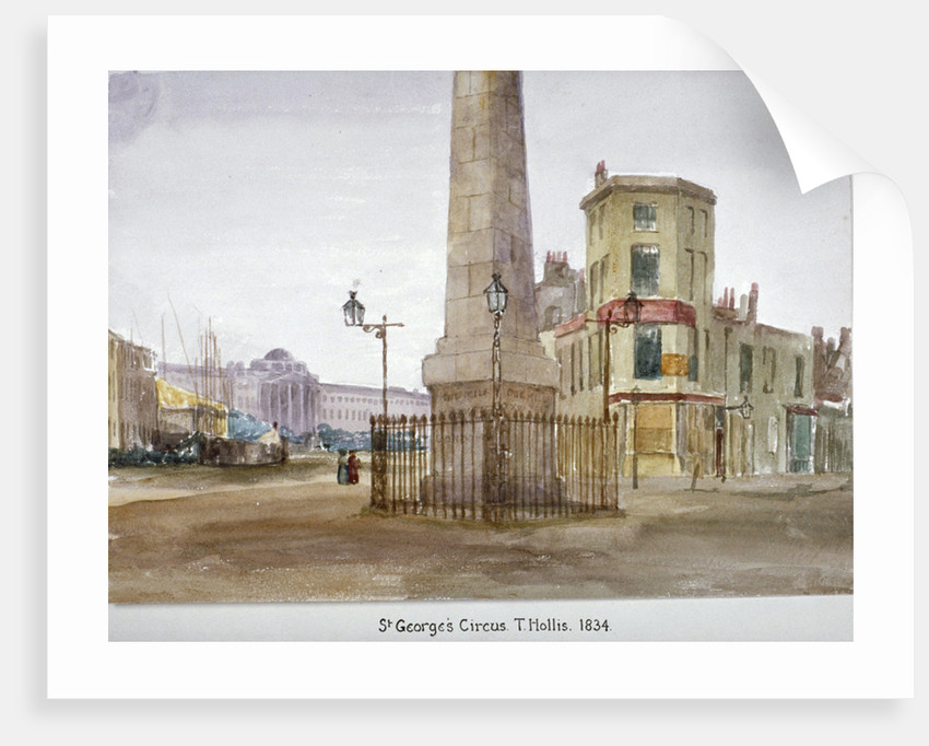St George's Circus, Southwark, London by Thomas Hollis