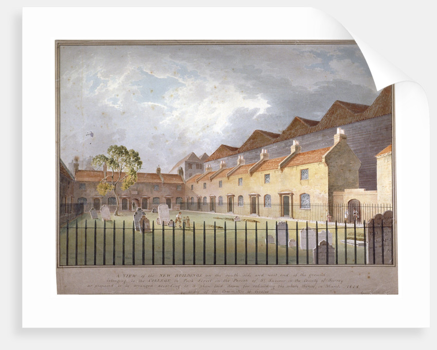 View of buildings in Park Street, Southwark, London by George Smith
