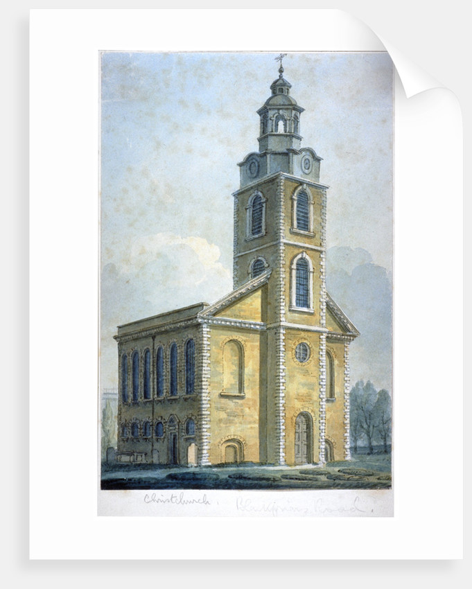 Christ Church on Blackfriars Road, Southwark, London by Anonymous