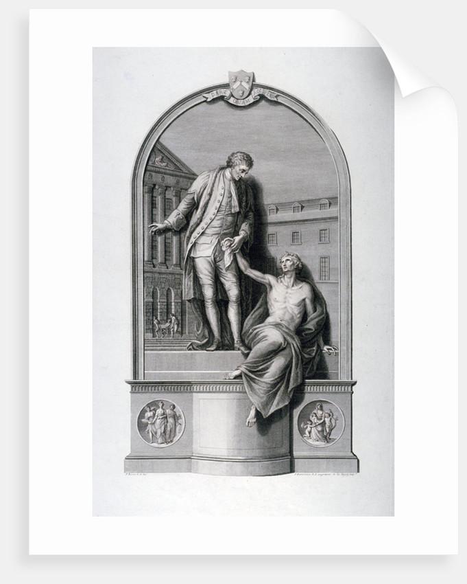 Monument to Thomas Guy at Guy's Hospital, Southwark, London by Francesco Bartolozzi