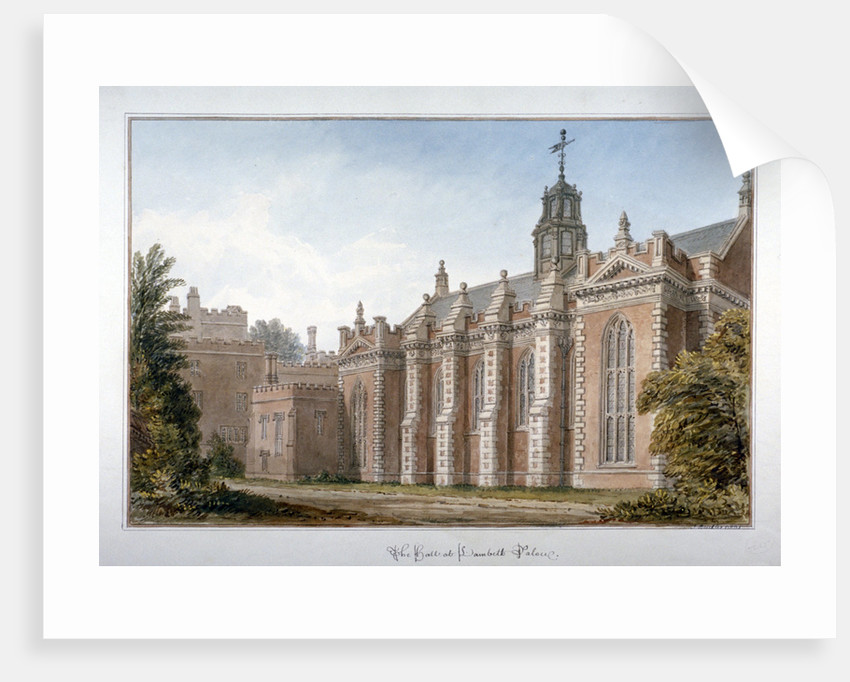 View of the hall at Lambeth Palace, London by