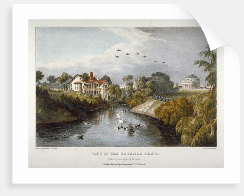 View in Regent's Park, St Marylebone, London by Thomas Mann Baynes