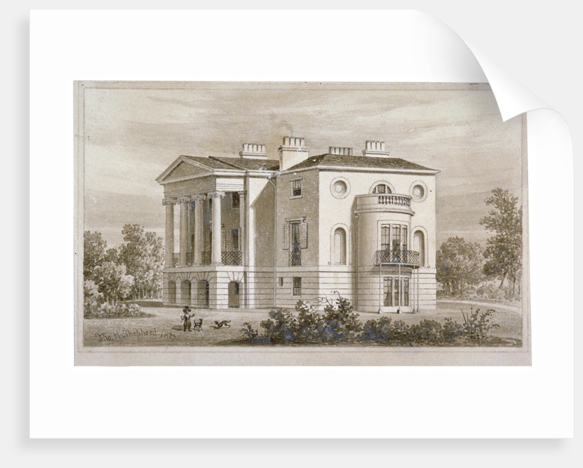 View of South Villa in Regent's Park, London by Thomas Hosmer Shepherd
