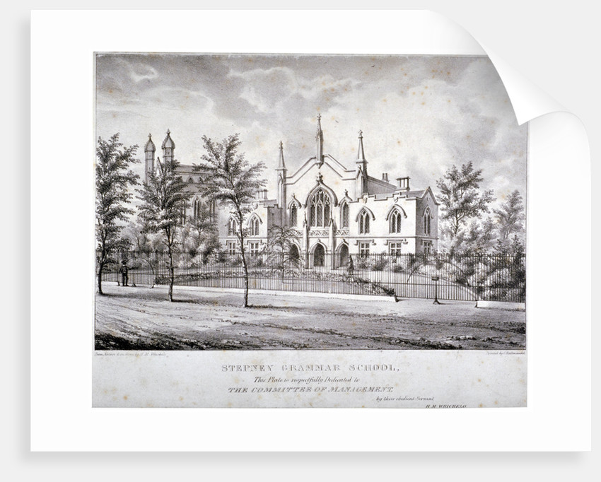 Stepney Grammar School, Stepney, London by Charles Joseph Hullmandel