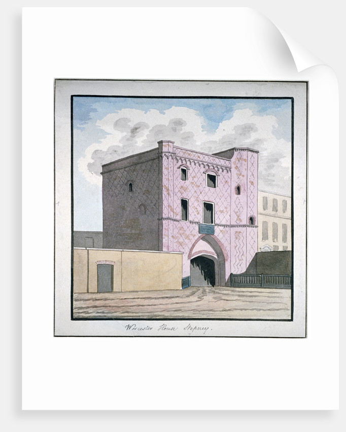 Gateway of Worcester House, Stepney, London by Anonymous
