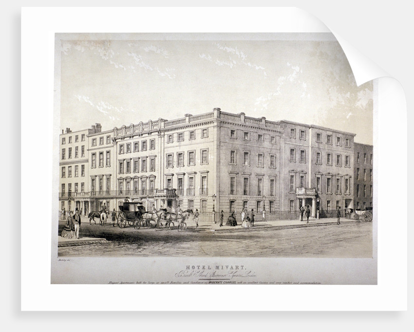 Mivart's Hotel, Brook Street, near Grosvenor Square, Westminster, London by