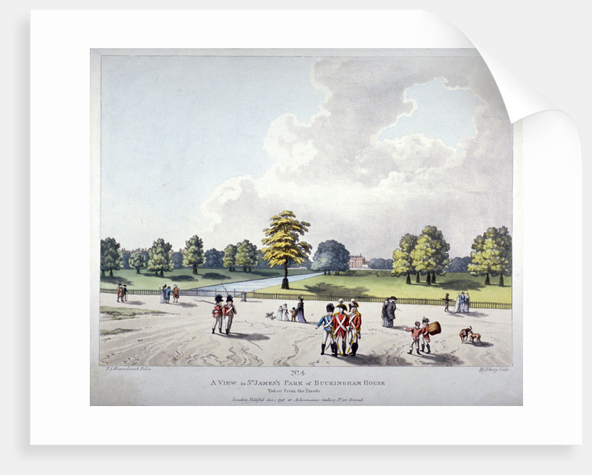 View in St James's Park of Buckingham House, Westminster, London by Heinrich Schutz