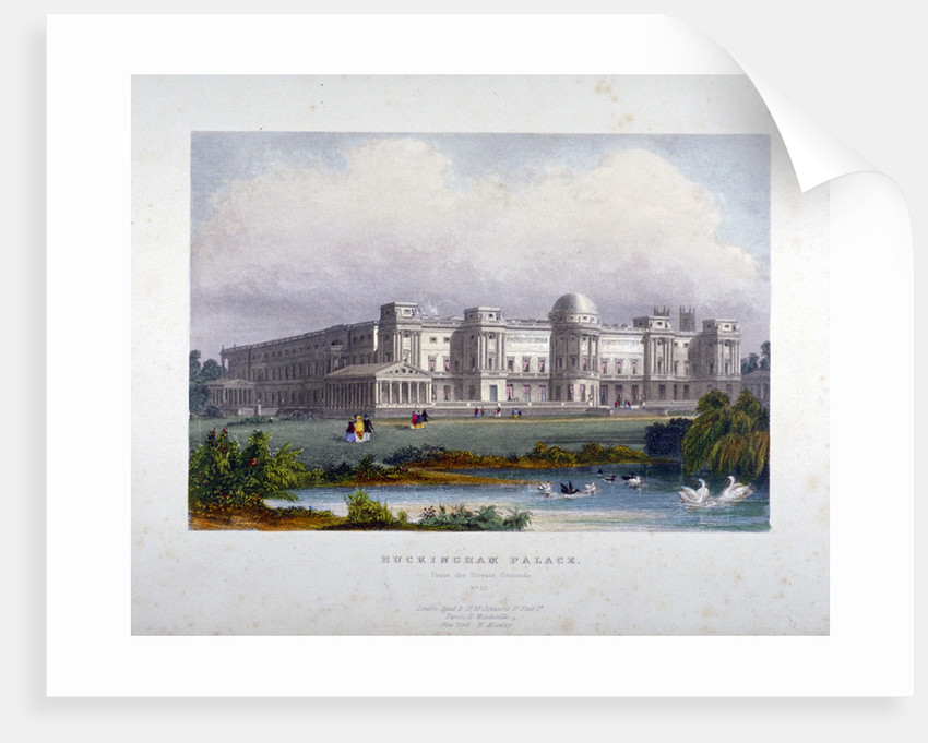 View of Buckingham Palace, Westminster, London by Anonymous