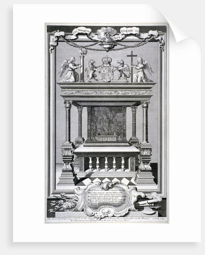 Monument to King Edward VI, Chapel of Henry VII, Westminster Abbey, London by
