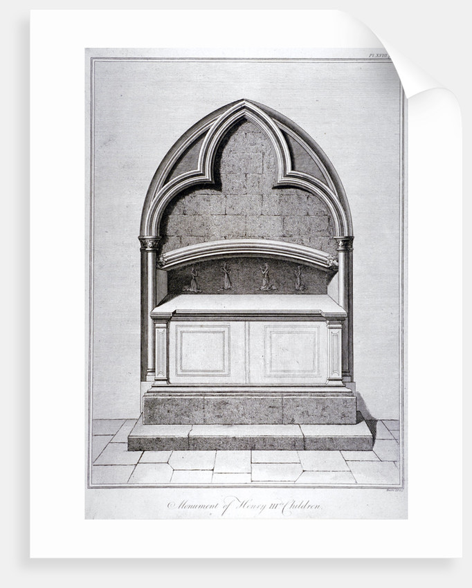 View of the monument to the children of Henry III, Westminster Abbey, London by