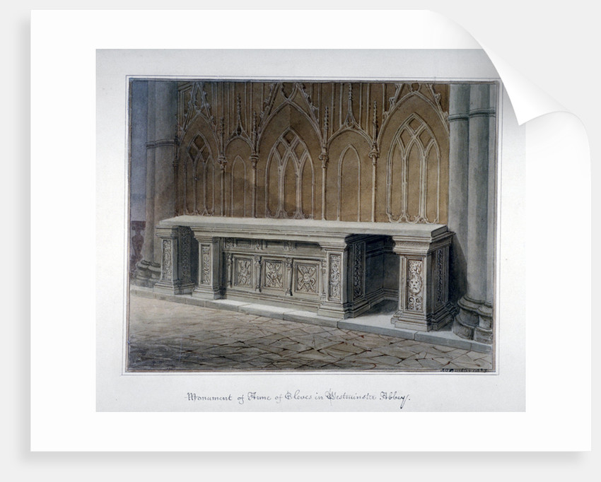 Anne of Cleves' monument, Westminster Abbey, London by John Chessell Buckler