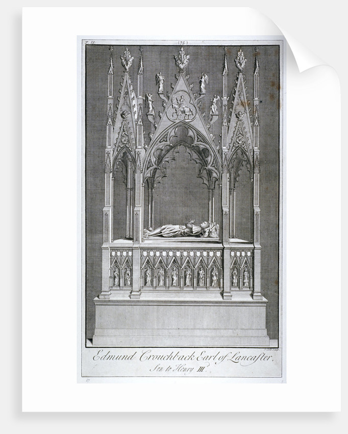 Monument to Edmund Crouchback, Earl of Lancaster, Westminster Abbey, London by James Cole