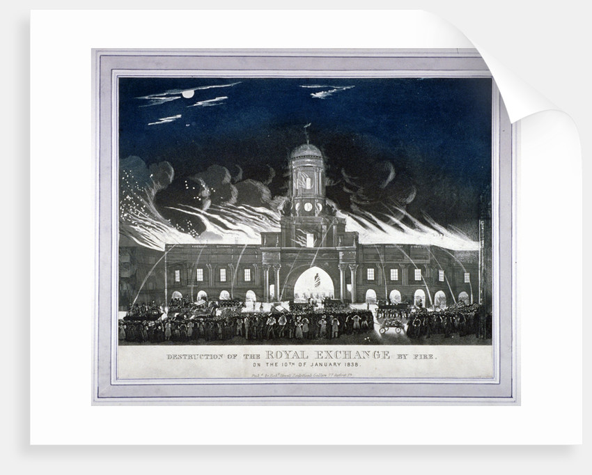 Fire at the Royal Exchange, City of London, January 1838 by Anonymous