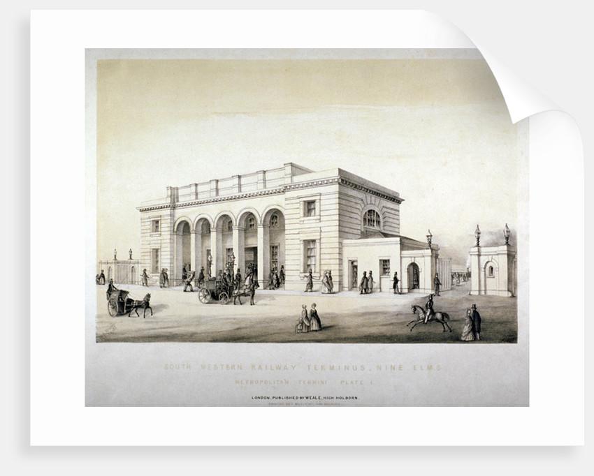 South Western Railway Terminus, Nine Elms, Battersea, London by Anonymous