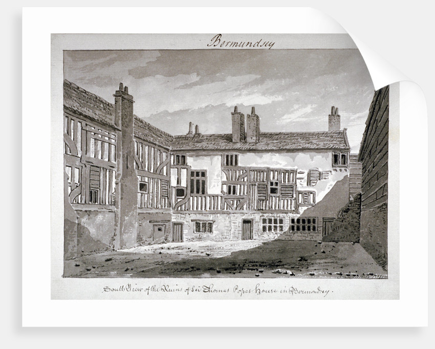 South view of the remains of Thomas Pope's house, Mill Lane, Bermondsey, London by