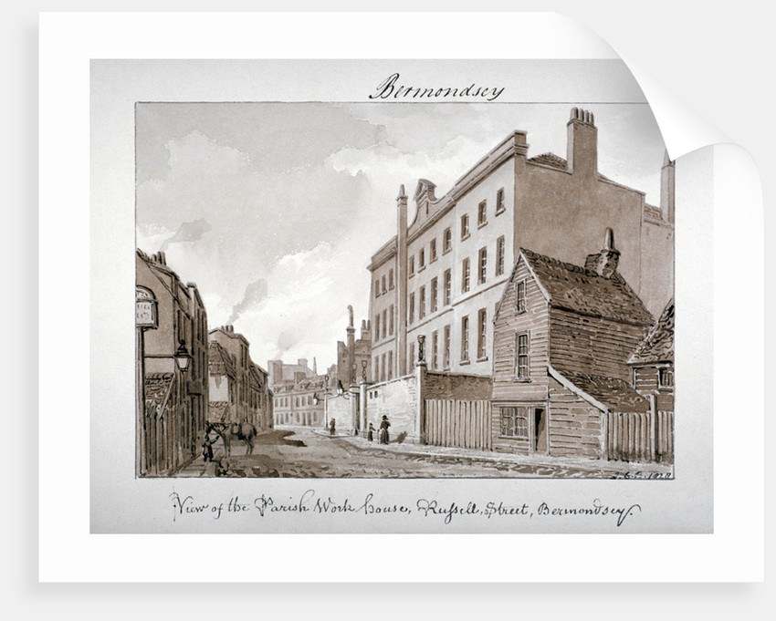 Parish Work House, Tanner Street, Bermondsey, London by John Chessell Buckler
