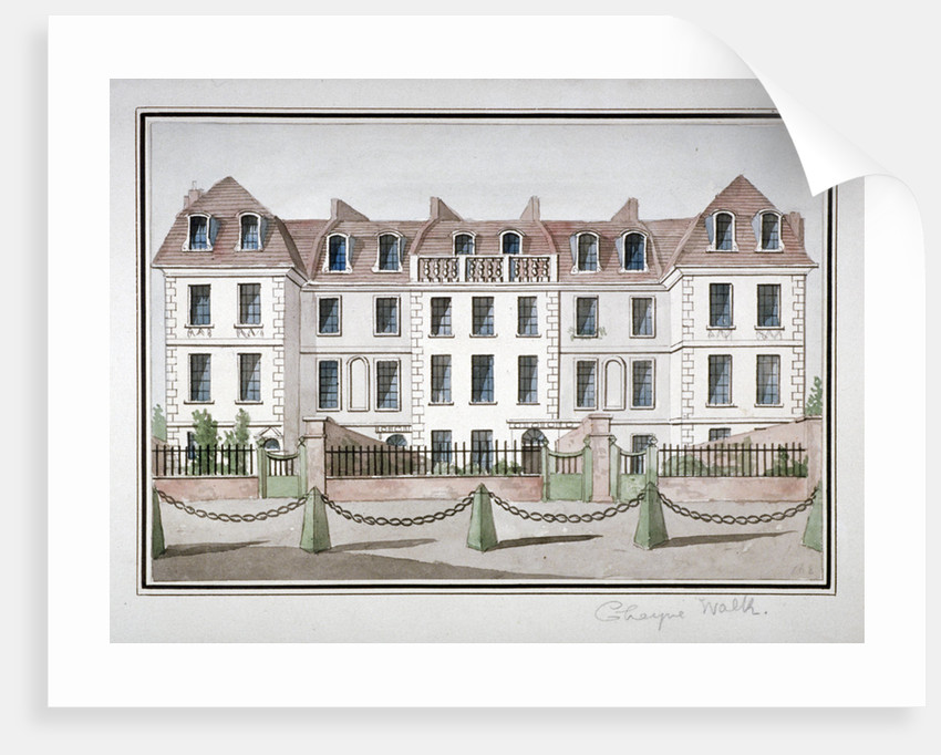 Houses at Cheyne Walk, Chelsea, London by Anonymous