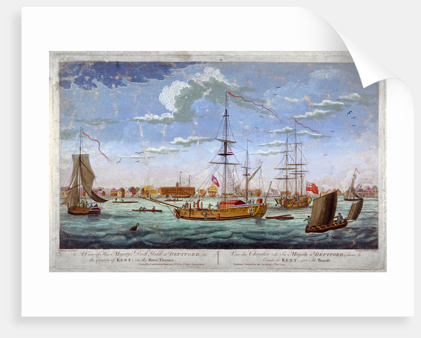 A view of His Majesty's Dock Yard at Deptford... by Anonymous