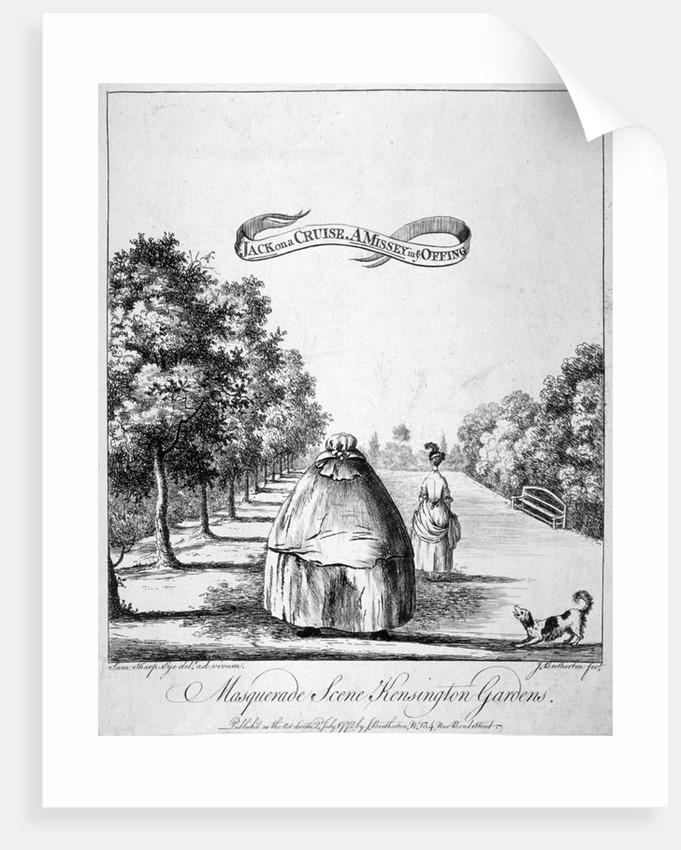 A masquerade scene, Kensington Gardens by James Bretherton