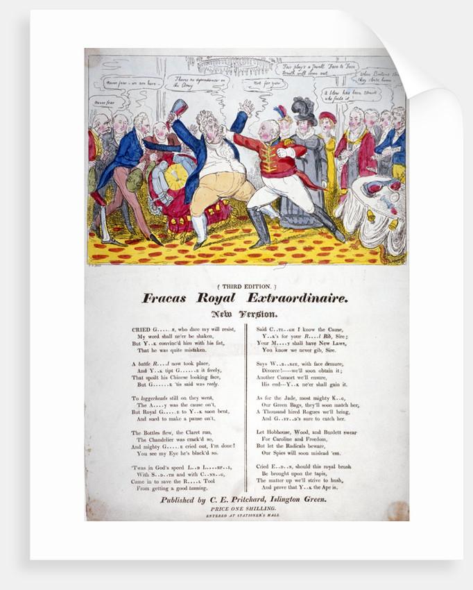 Fracas Royal Extraordinaire by Isaac Robert Cruikshank