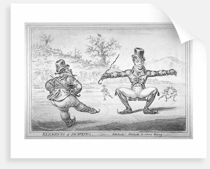 Elements of Skateing. Attitude! Attitude is every thing! by James Gillray
