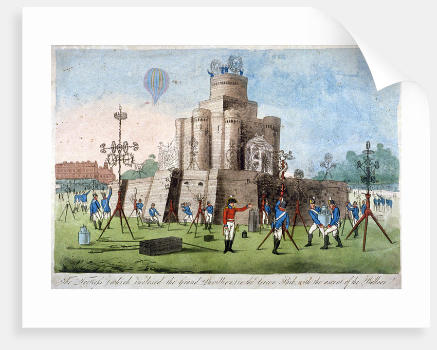 Fortress in Green Park, Westminster, London by Anonymous