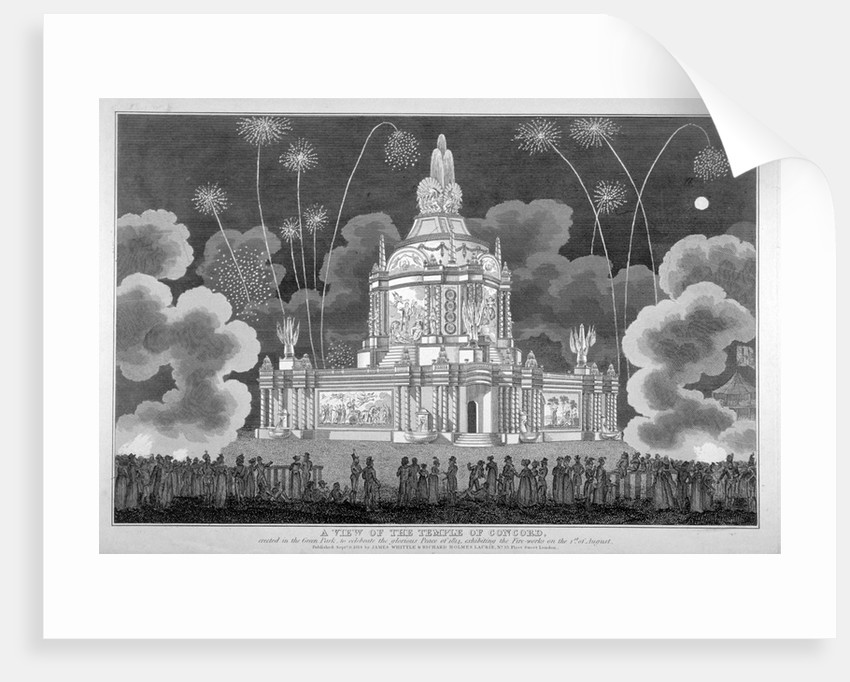 Firework display in Green Park, Westminster, London by Anonymous