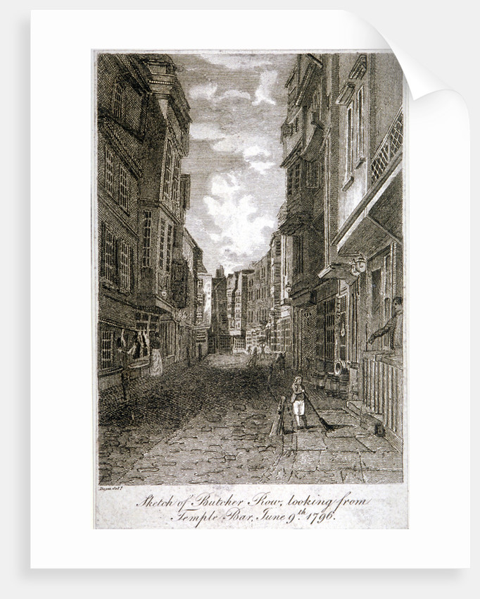 Butcher Row, Westminster, London by Edward Dayes