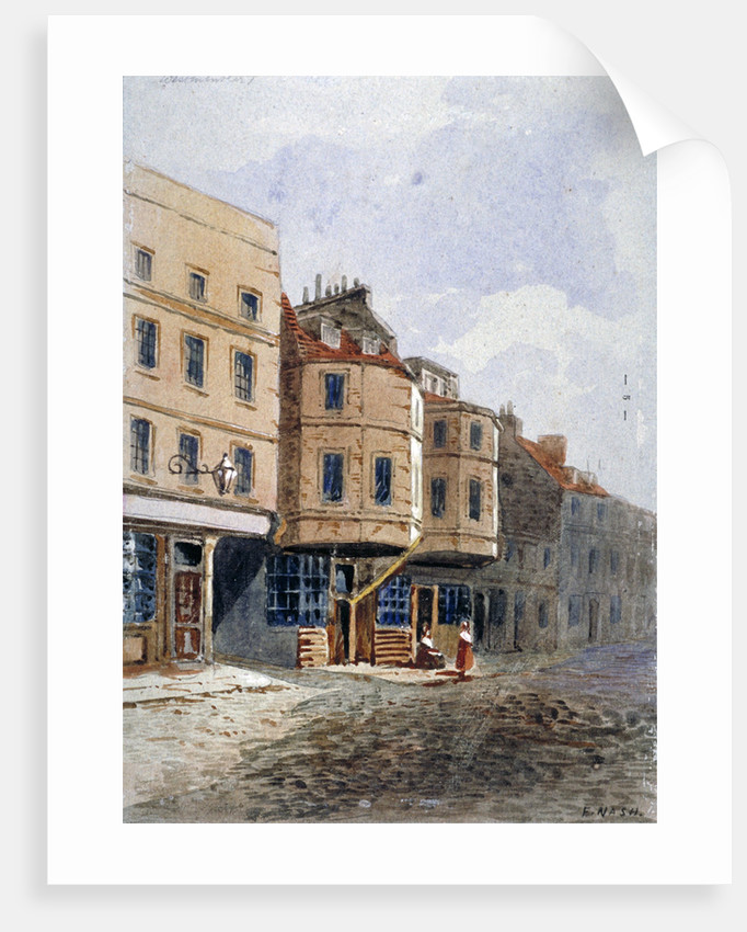 View of Oliver Cromwell's house, Clements Lane, Westminster, London by Frederick Nash
