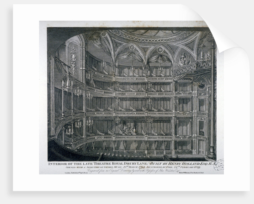Interior of the Theatre Royal, Drury Lane by Thomas Dale