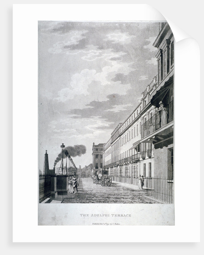 View of the Adelphi Terrace, Westminster, London by