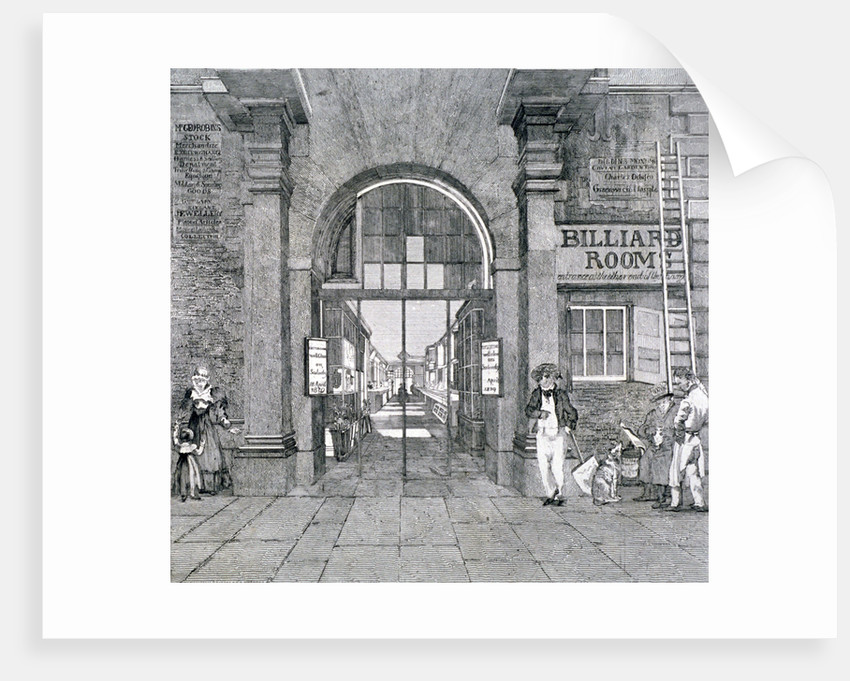 Western entrance to Exeter Change, Westminster, London, 1829 by Anonymous