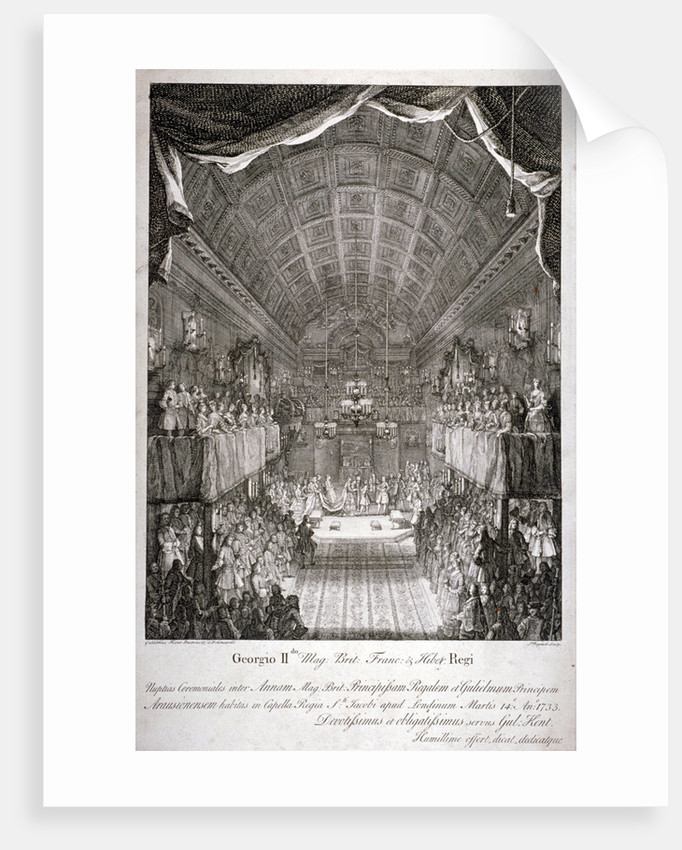 Wedding of Anne, Princess Royal, and William IV of Orange, St James's Palace, London by Jacques Rigaud