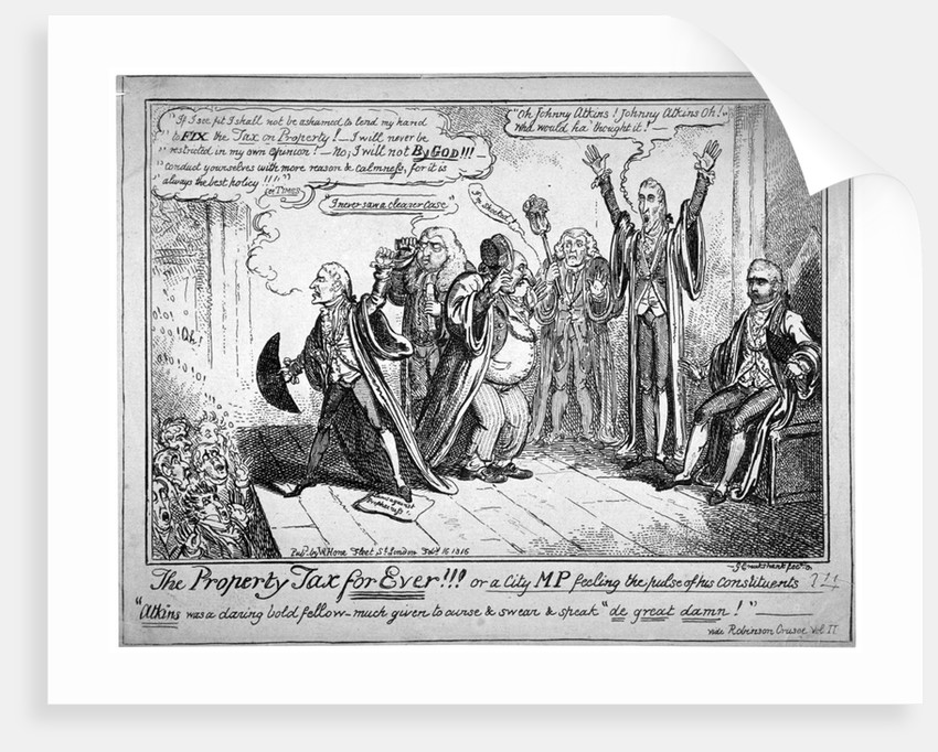 The property tax for ever!!! by George Cruikshank