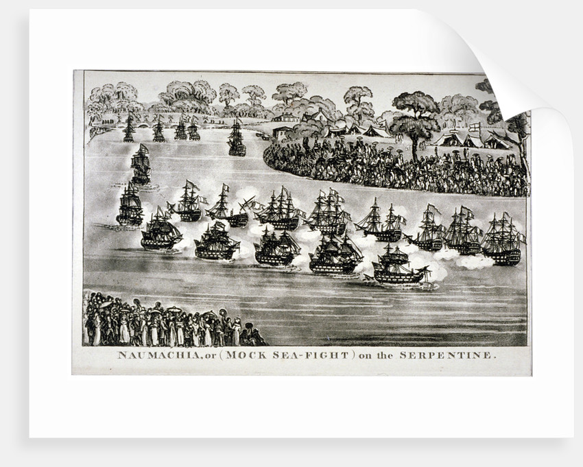 Naumachia, or (Mock Sea-Fight) on the Serpentine, Hyde Park, London by Anonymous