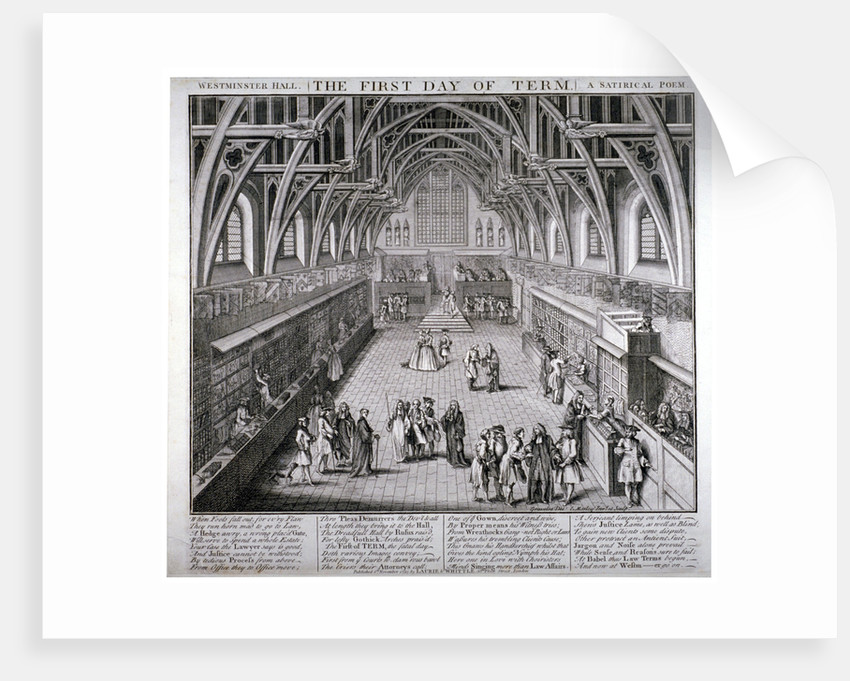 Westminster Hall, the first day of term, a satirical poem by C Mosely