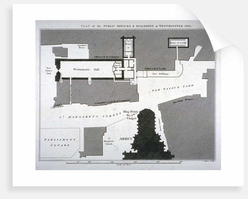 Plan of the public offices and buildings at Westminster, London by Anonymous