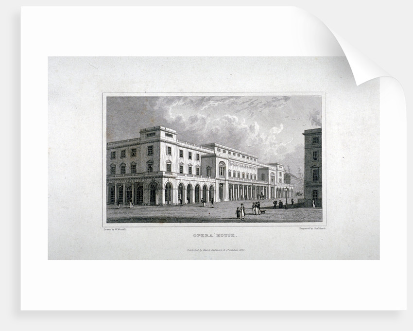 View of the King's Theatre, Haymarket, London by
