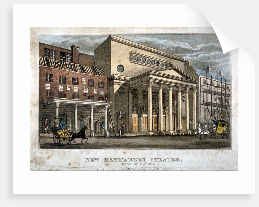 View of the Haymarket Theatre, Westminster, London by James Findlay
