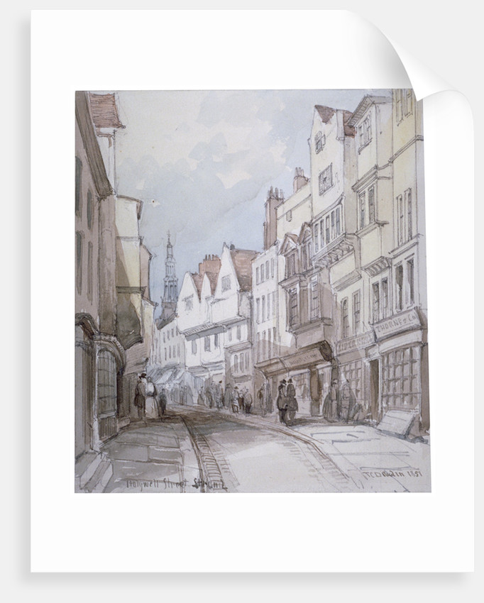 View of Holywell Street, Westminster, London by Thomas Colman Dibdin