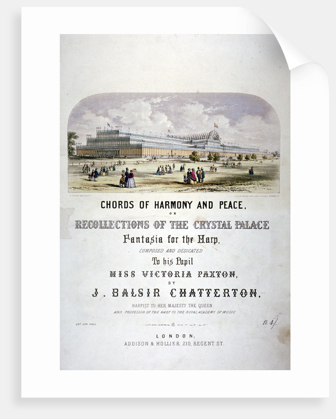 Cover of 'Chords of harmony and peace' composed by JB Chatterton by Augustus Butler