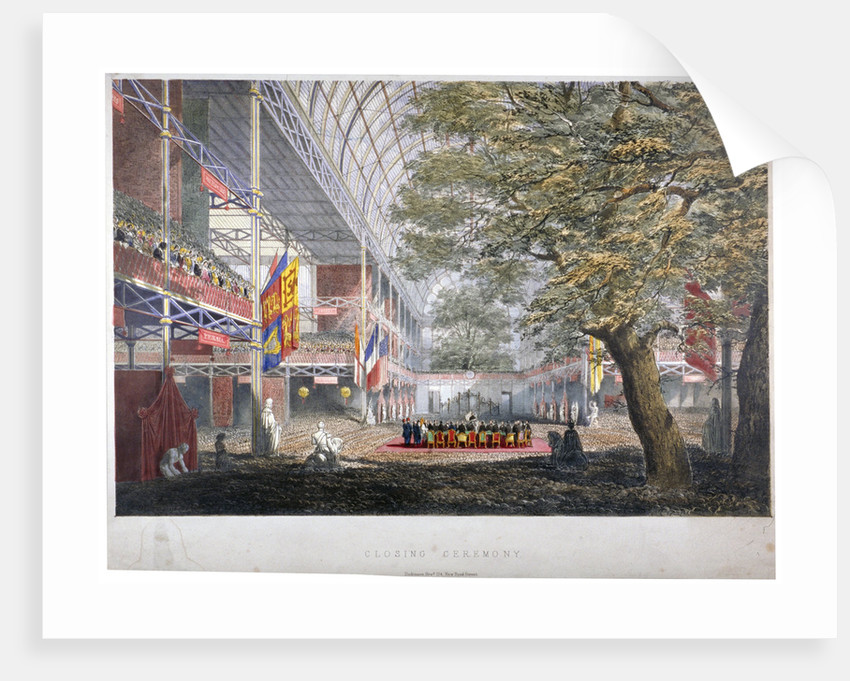 View of the closing ceremony of the Great Exhibition of 1851, London by Anonymous