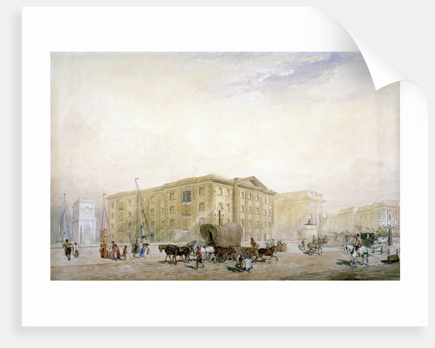 View of the southern end on the new London Bridge and Fenning's Wharf, London by Anonymous
