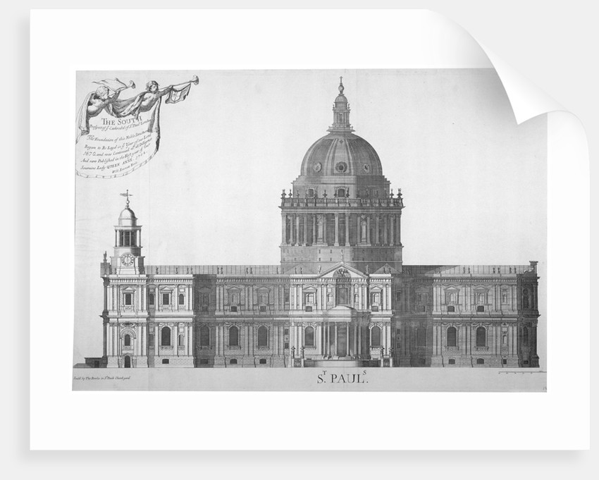 South elevation of St Paul's Cathedral, City of London by William Emmett