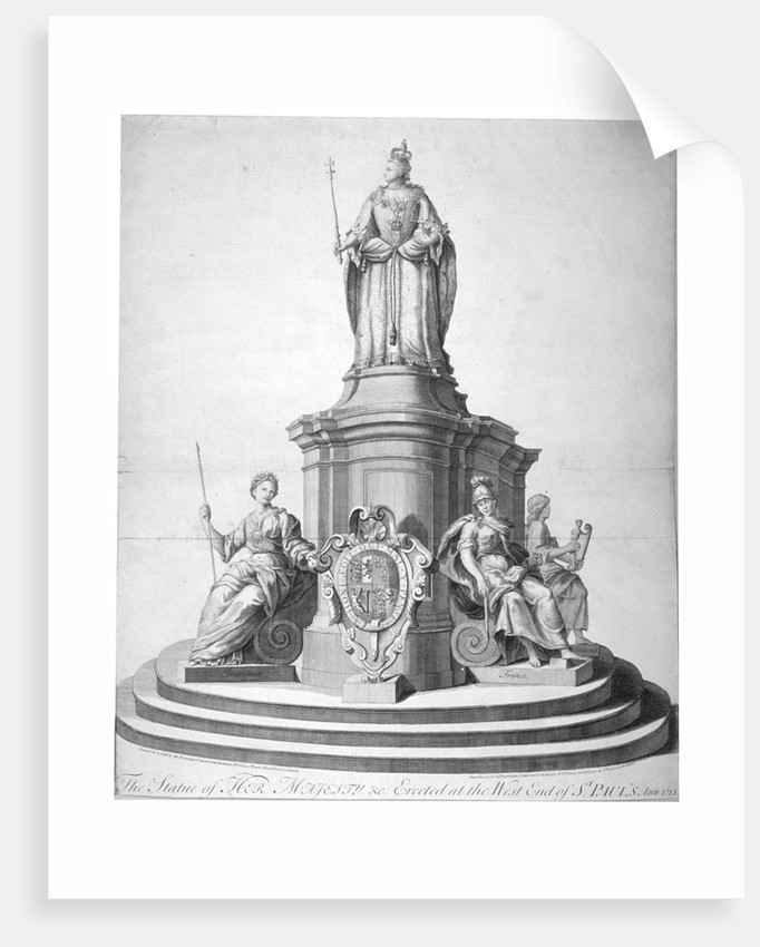 Statue of Queen Anne erected as a celebration of the completion of St Paul's Cathedral by Anonymous