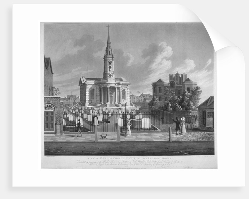 View of St Paul's Church, Deptford, London by Matthew Dubourg