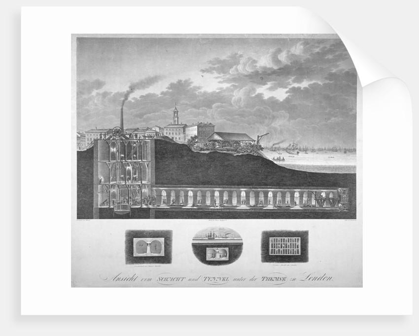 The Thames Tunnel under construction, London by Carl Friedrich Trautmann