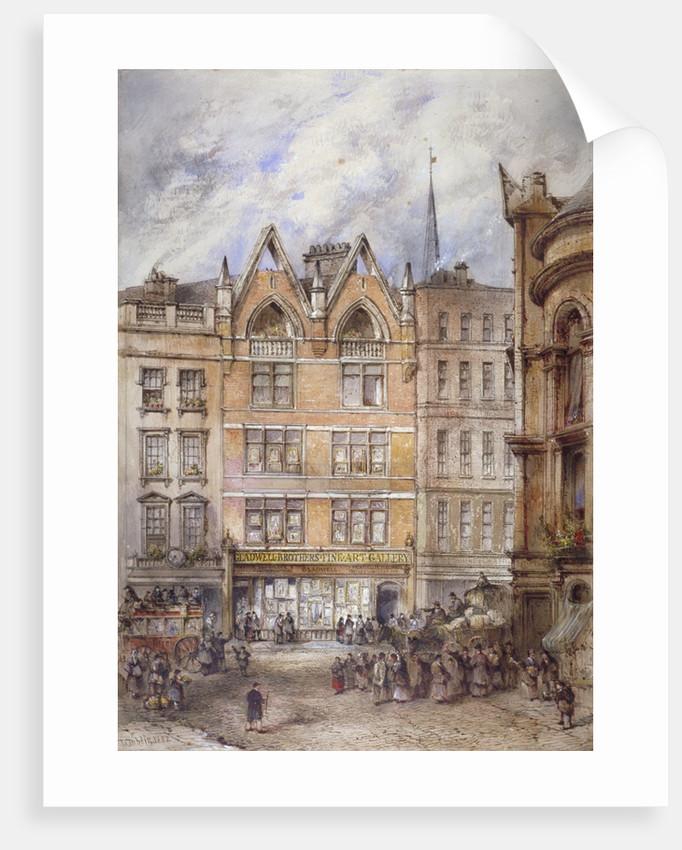 Gracechurch Street, City of London by Thomas Colman Dibdin
